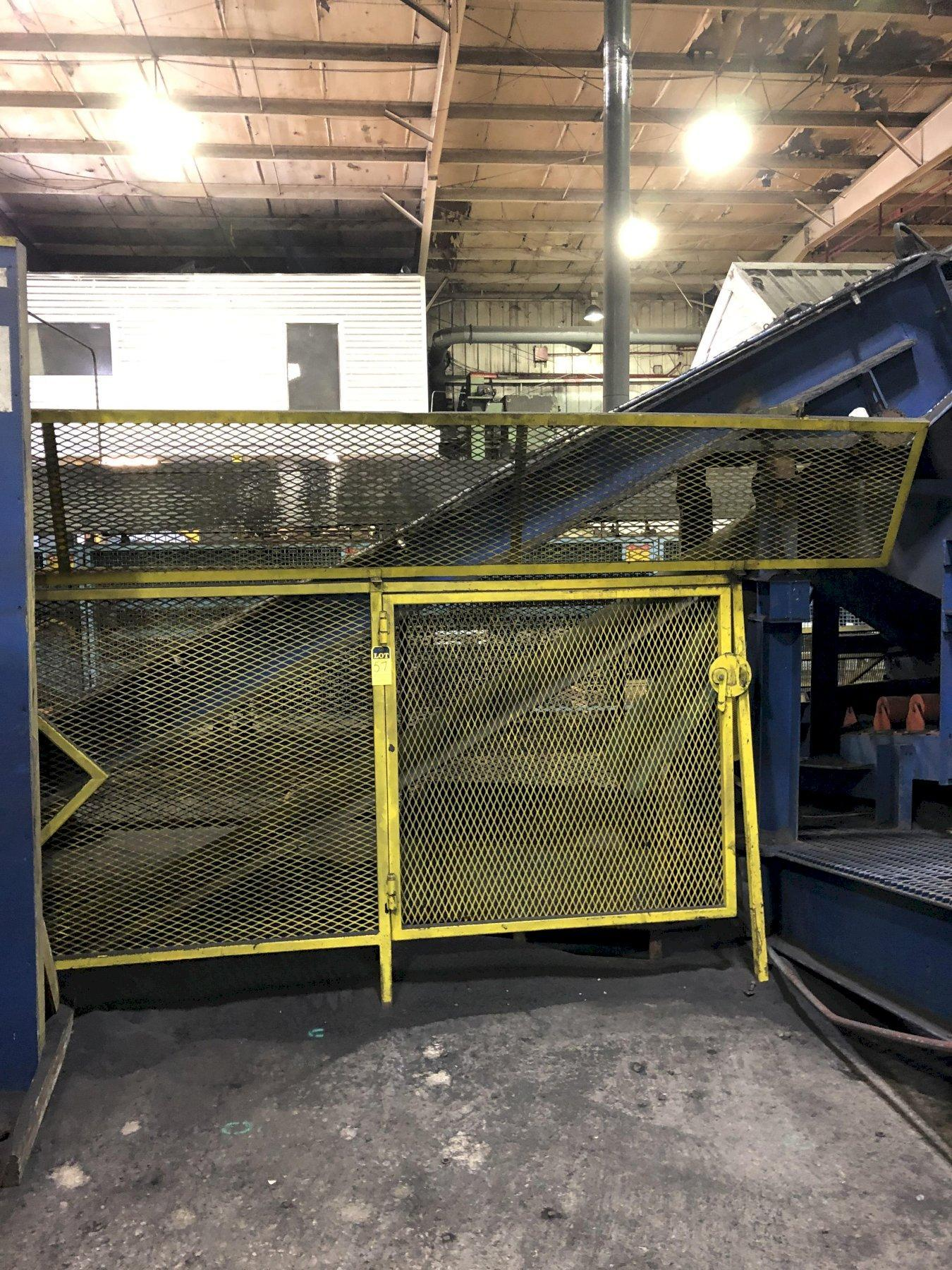"""2013 MACO 30"""" X APPROX. 25' CLEATED DIDION DISCHARGE BELT CONVEYOR WITH 7.5 HP DRIVE, 30 DEGREE INCLINE"""