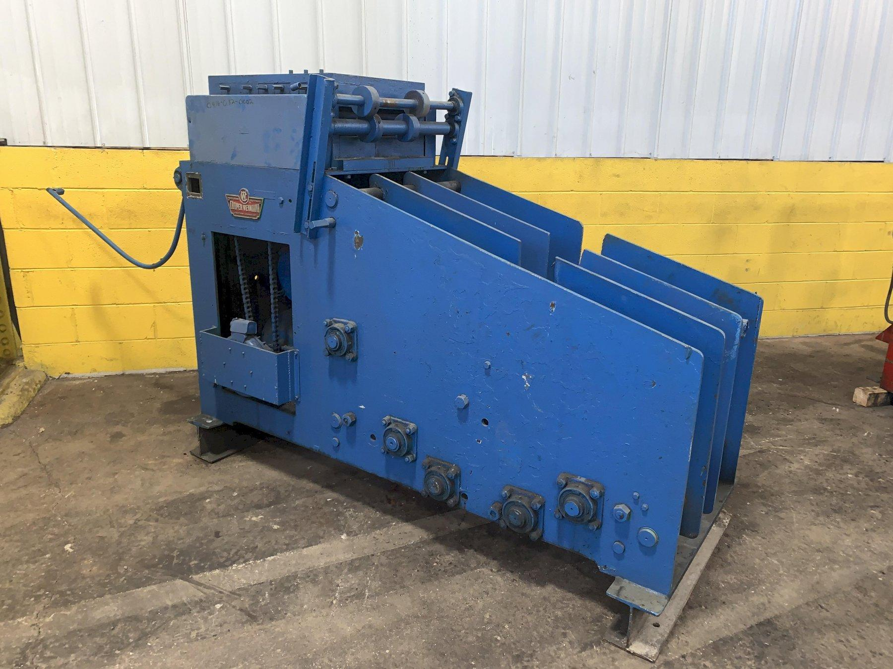 "8,000 LB X 18"" X .187"" CWP MODEL #18CCS COIL CRADLE 7 ROLL STRAIGHTENER COMBINATION UNCOILER : STOCK #13908"