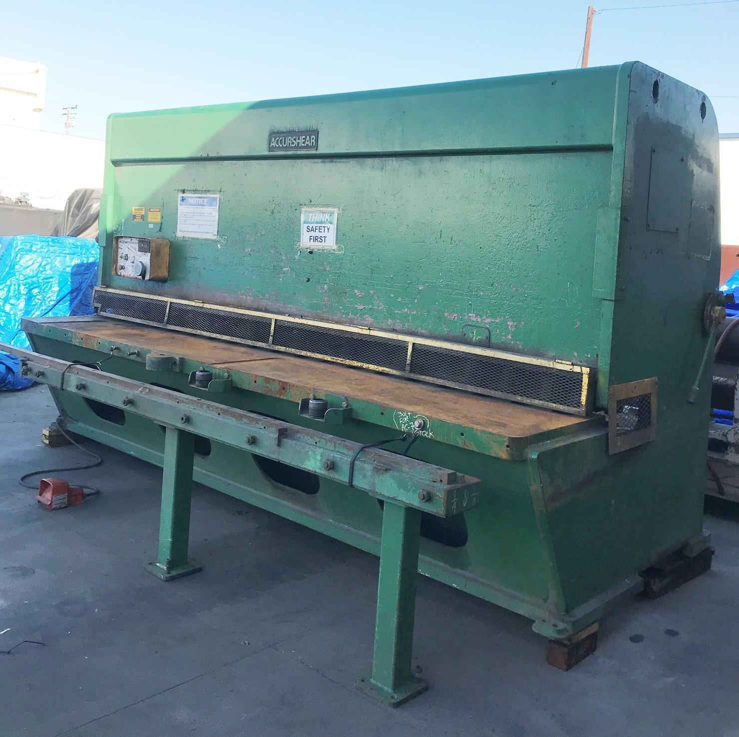 "12' X 3/8"" ACCURSHEAR MODEL #837512 HYDRAULIC POWER SHEAR: STOCK 11159"