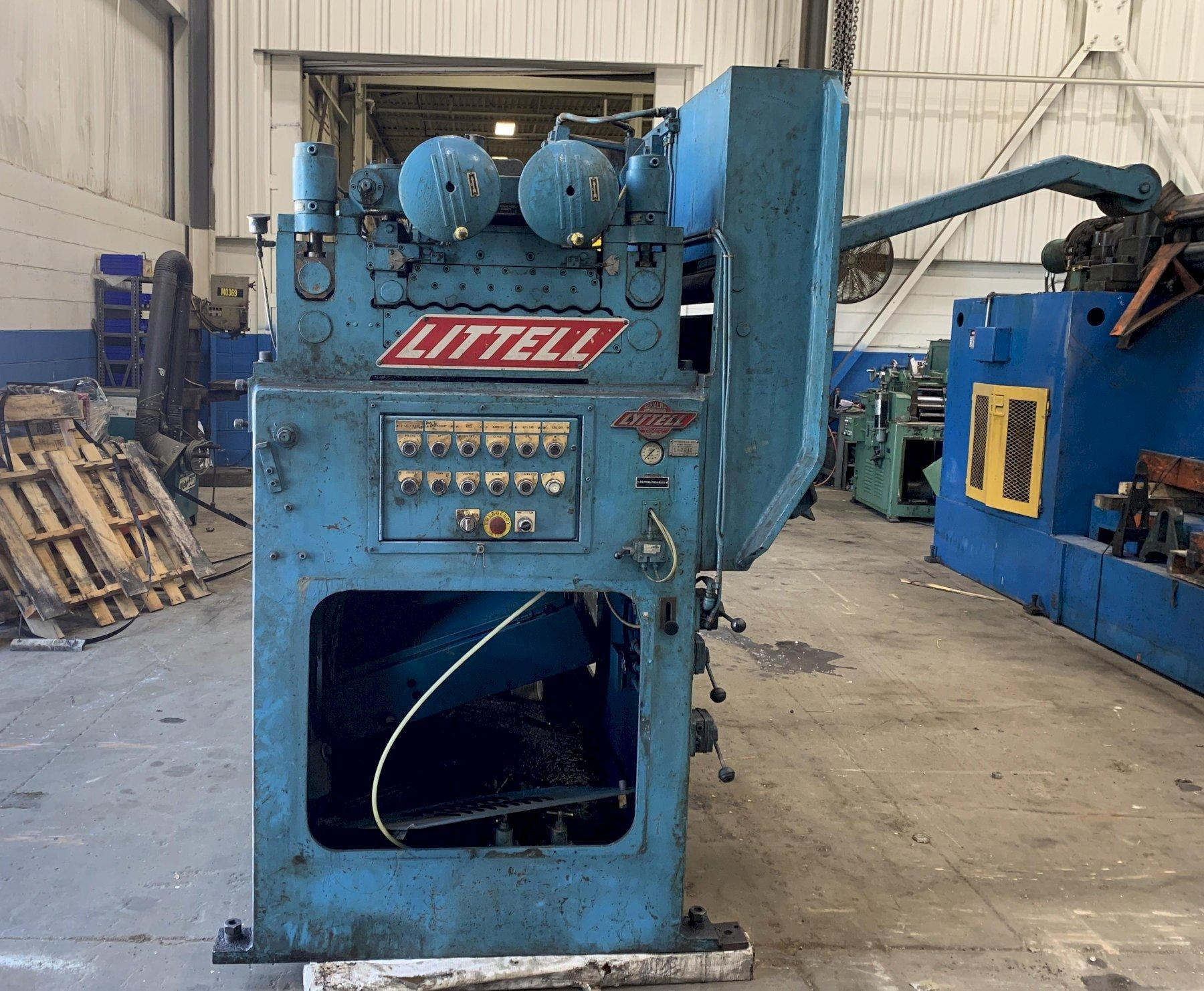 """20,000 lbs x 48"""" wide Littell Reel and Precision Powered Straightener"""