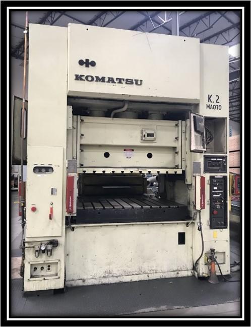 Komatsu E2M200 Straight Side Press, Used
