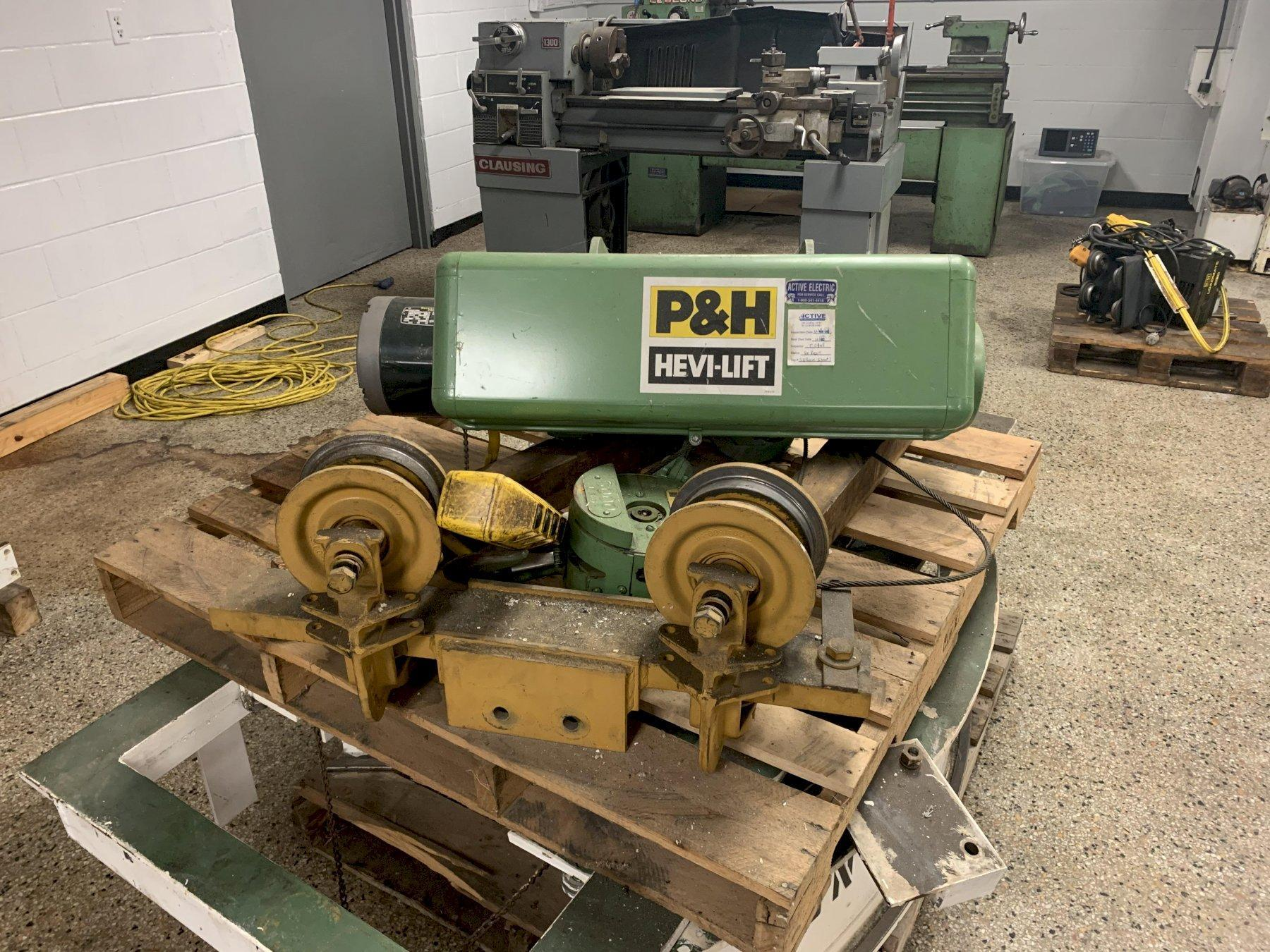P&H Hevi-Lift 3 Ton Electric Hoist, Cat #5B332-1, S/N 613546,