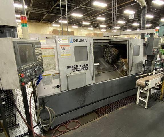 Okuma LB-3000EX C-1000 Space Turn CNC Lathe, 2013