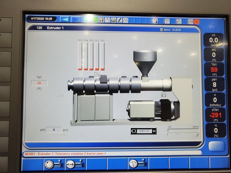 Krauss Maffei Used KME 60 SX Profile Extrusion Line, Yr. 2015