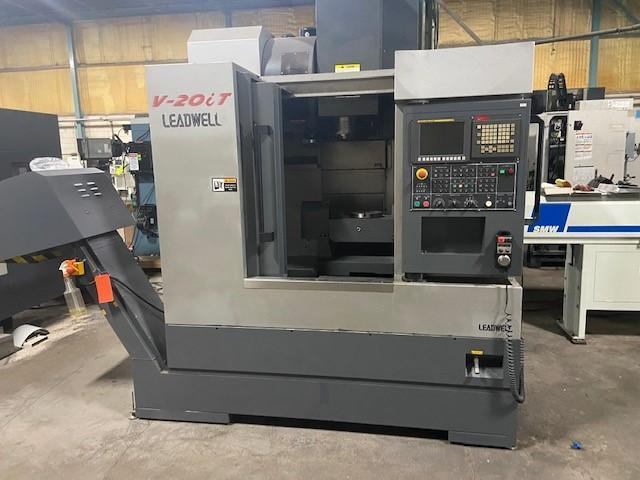 "Leadwell V20i CNC 5-Axis Vertical Machining Center, Fanuc 0iMD, 20""/16""/19"" Travels, 12K Spindle, 24 Position ATC, 8.5"" Trunnion Table, Ethernet, 2011"