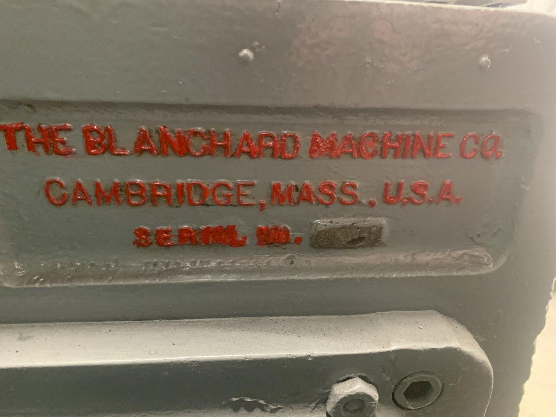 "36"" BLANCHARD MODEL #18-36 ROTARY SURFACE GRINDER: STOCK 12980"