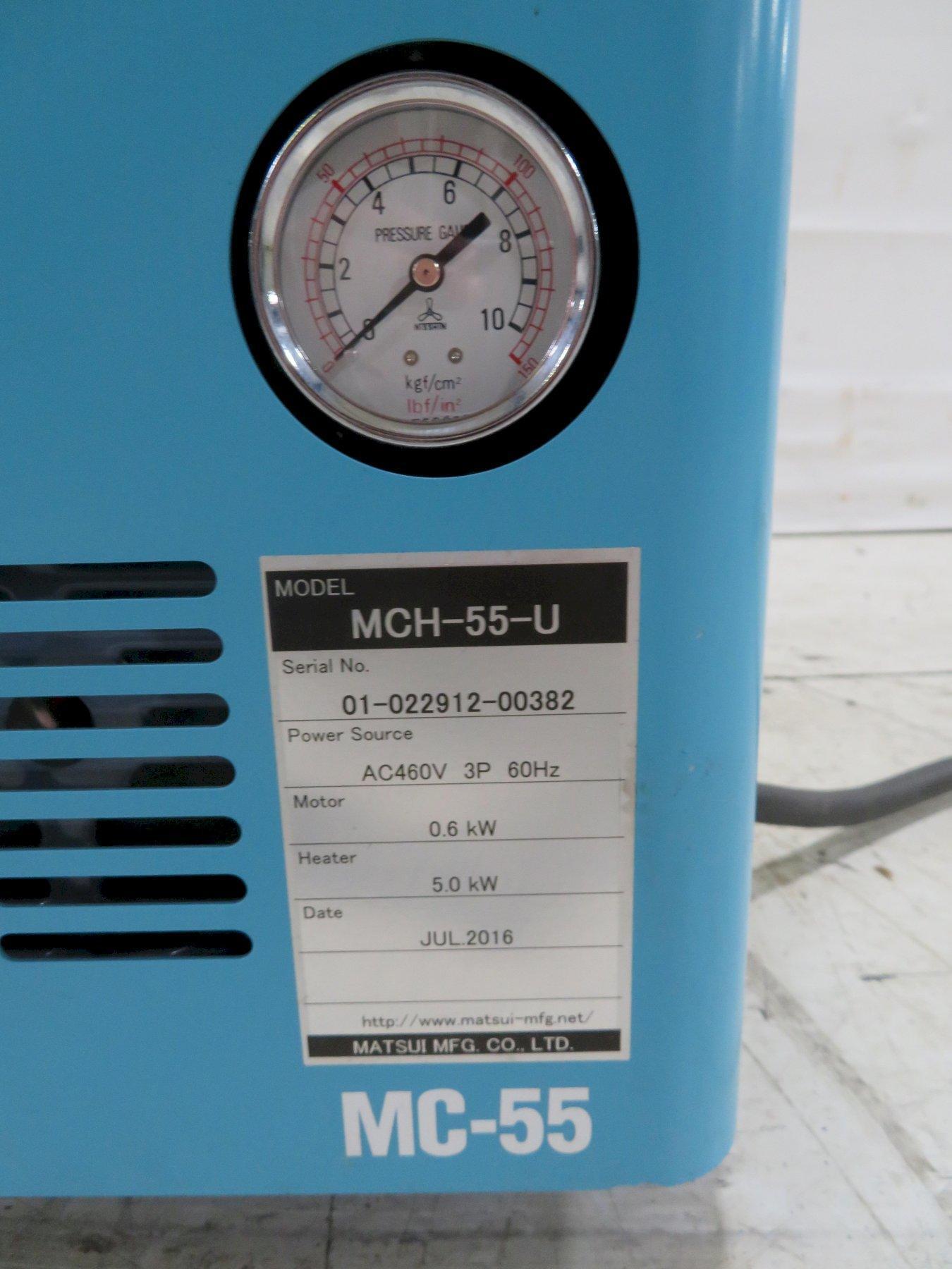 Matsui Used MC-55-U  Mold Temperature Controller, 0.8 hp, 5kw, 460V, yr. 2016