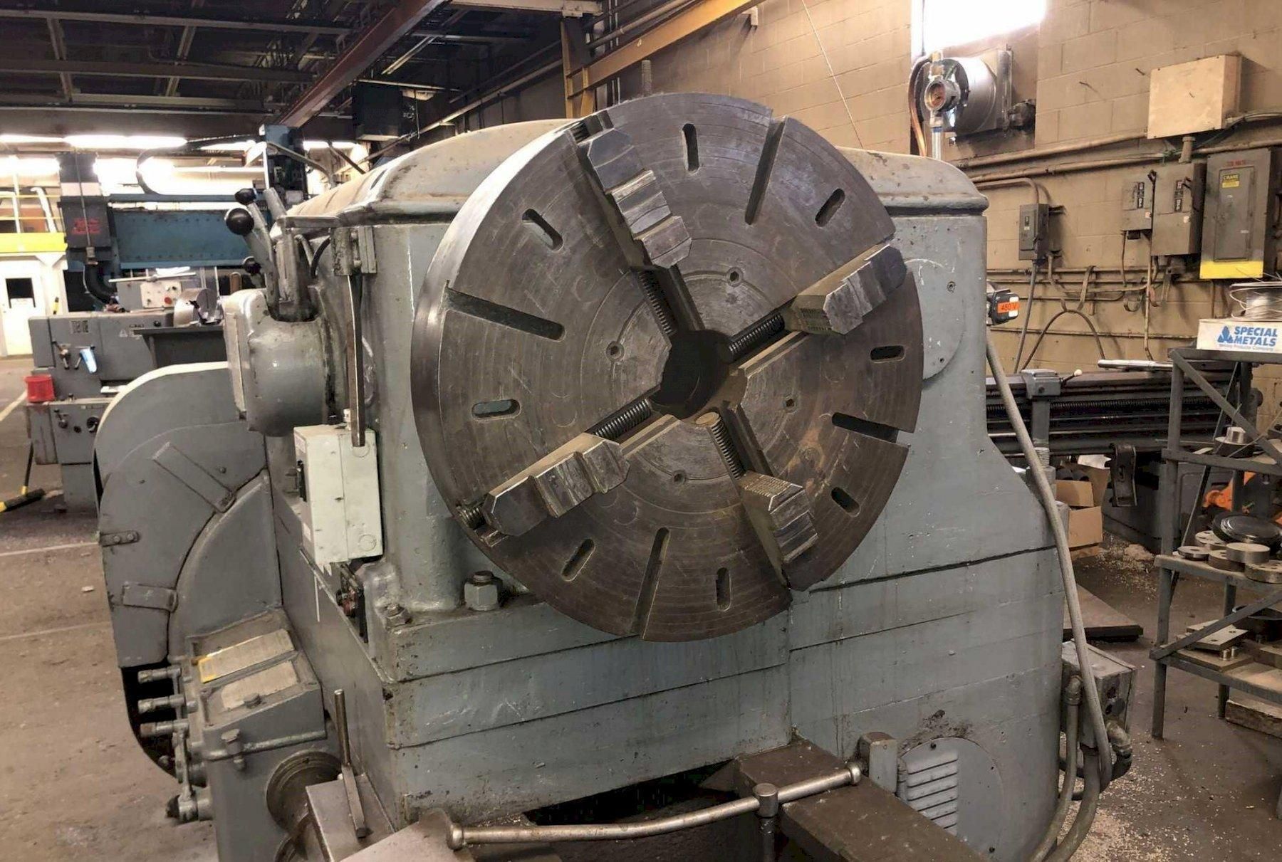 """56"""" x 342"""" BERTRAM ENGINE LATHE WITH DUAL CARRIAGES"""