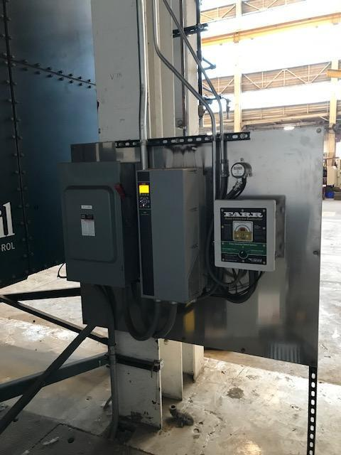 FARR GOLD SERIES DUST COLLECTOR,  MODEL GS24, 24 CARTRIDGES, 75 HP FAN, 30,000 CFM, PULSE CONTROLLER, LOW PROFILE, VERY LITTLE USE, NEW 2016