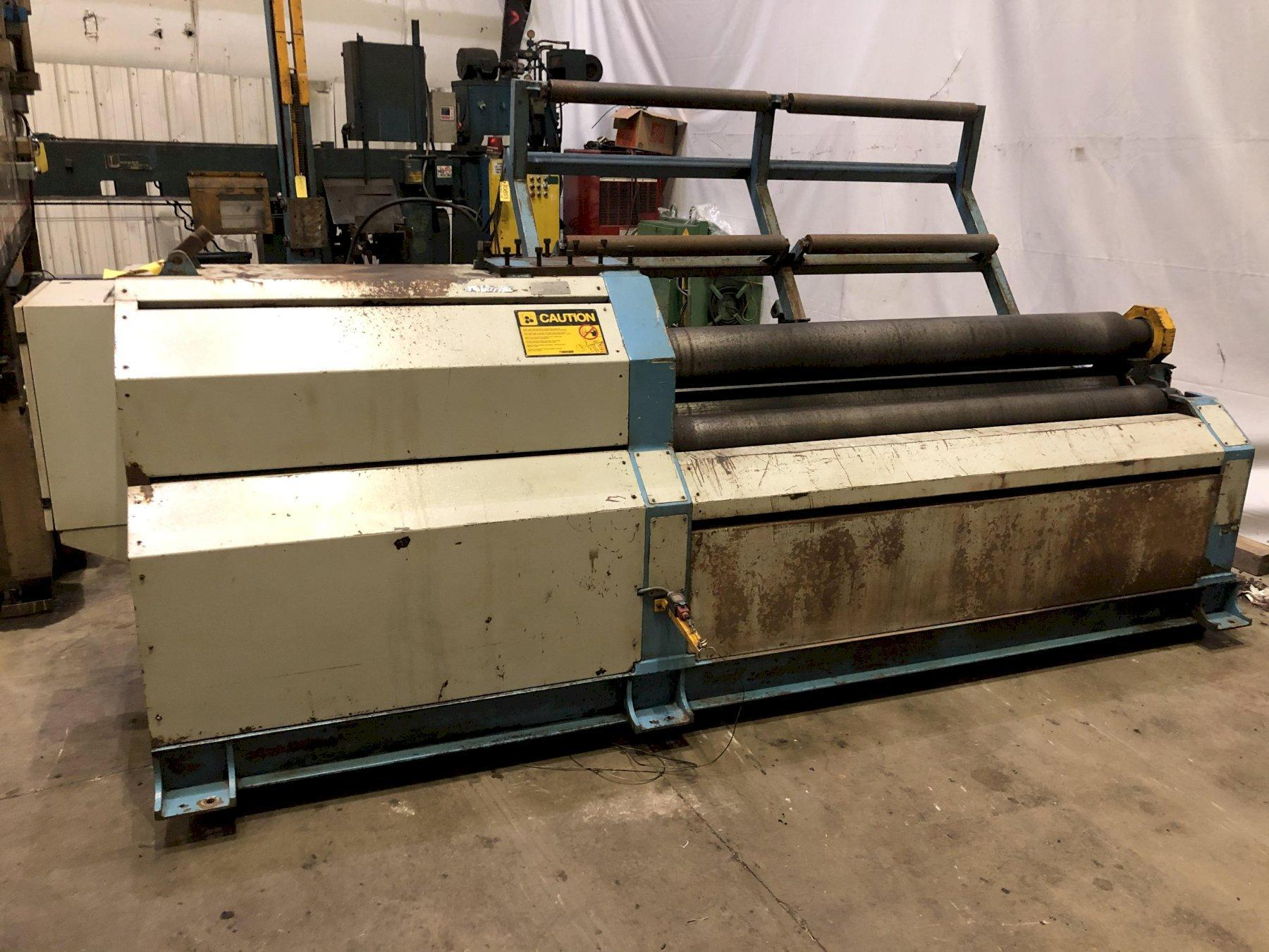 "80"" X 5/16"" BERTSCH HYDRAULIC 4-ROLL PLATE BENDING MACHINE: STOCK #14326"
