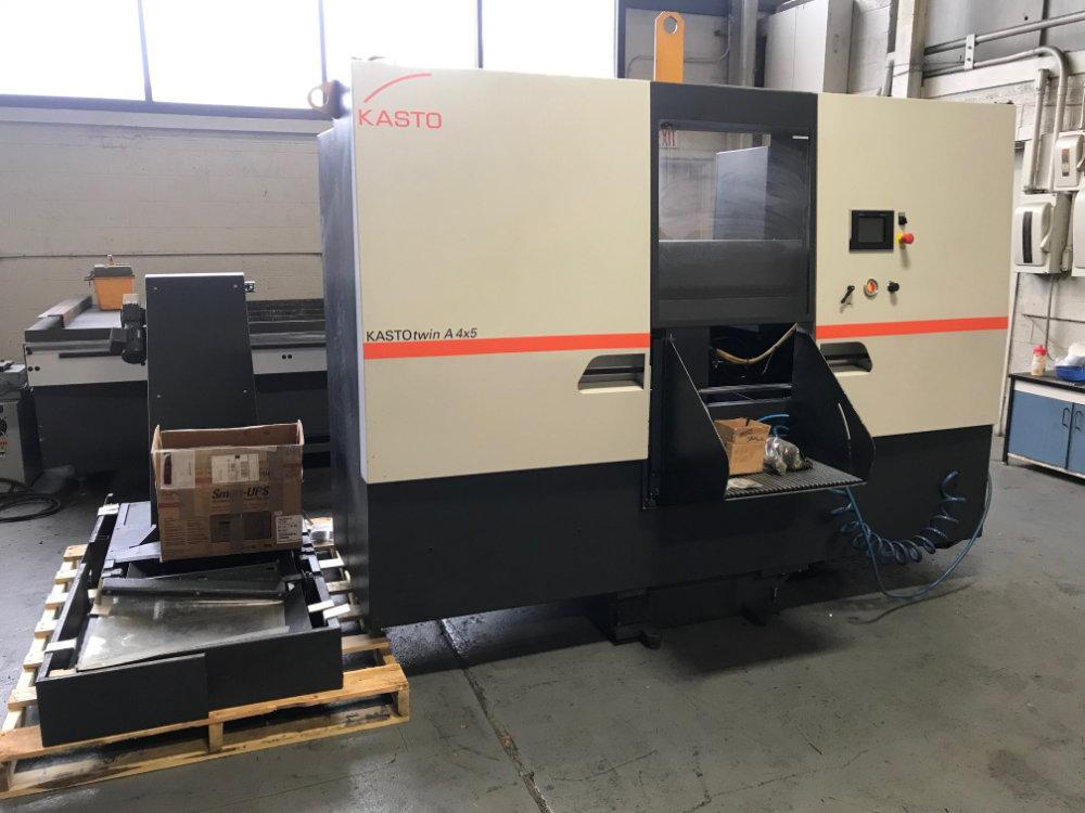 USED KASTO FULLY AUTOMATIC DUAL POST HORIZONTAL  BANDSAW , Model A4X5, Year: 2012, Stock No. 10529