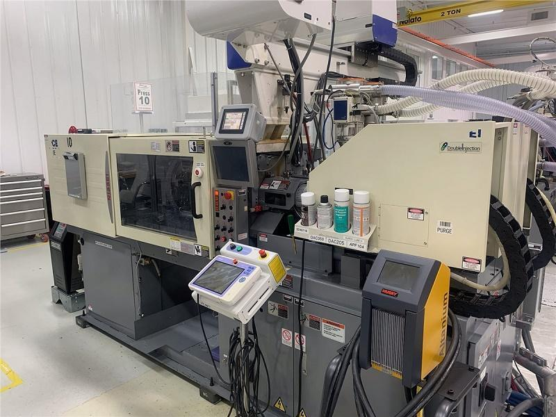 Nissei Used DCE60-2E Electric 2-Shot Injection Molding, 60 US ton, Yr. 2012, 0.43/0.60 oz.