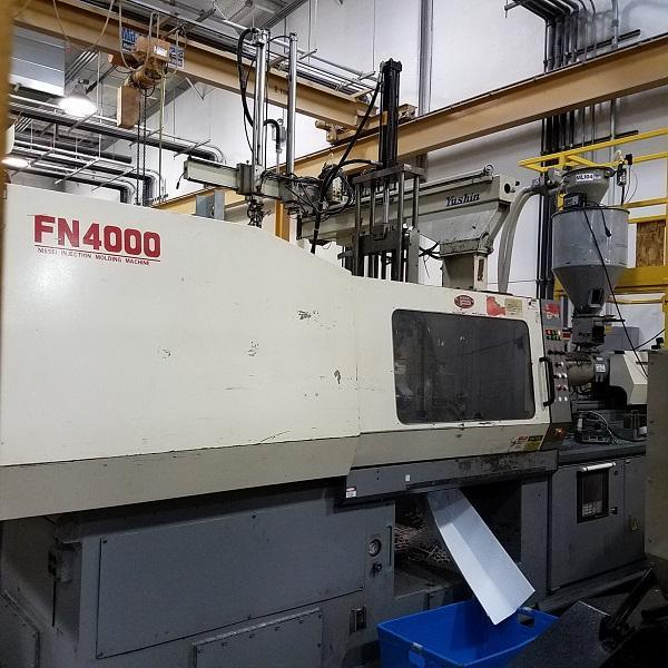 Nissei Used FN4000-36A Used Injection Molding Machine, 197 US ton, Yr. 1998, 14.9 oz. 460V