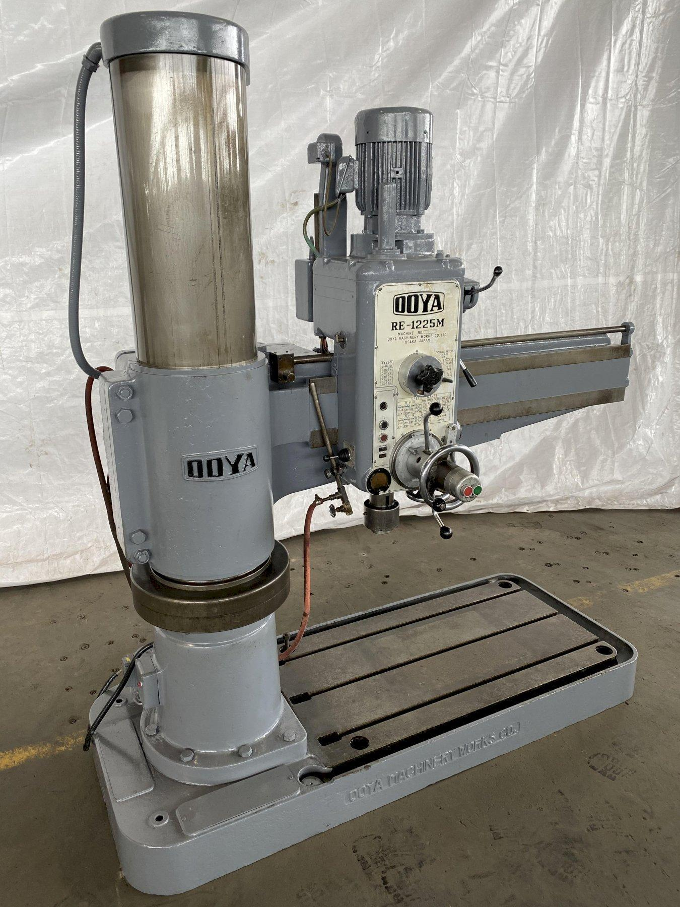 "4' x 12"" OOYA RE-1225M RADIAL ARM DRILL. STOCK # 0204120"