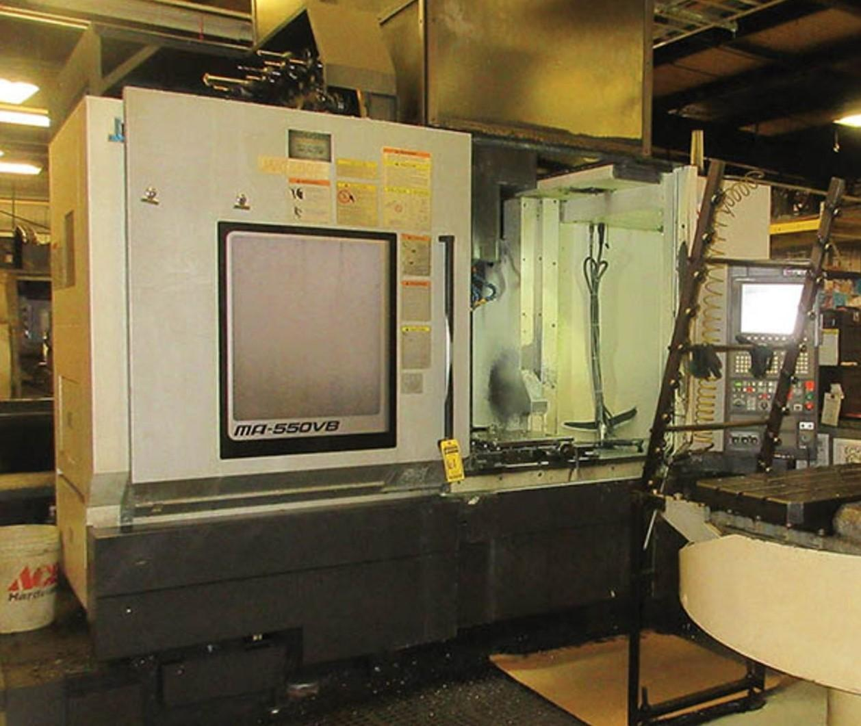 "Okuma MA-550VB CNC Vertical Machining Center, OSP300M Control, 51""/22""/22"" Travels, 6K Spindle, 50 Taper. 48 Tool Capacity, Geared Head, Box Ways, 2015"