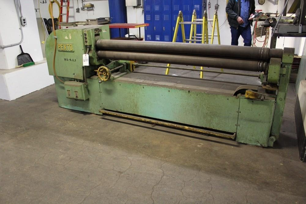 "96"" X 16 GUAGE PEXTO MODEL 4-1/4 PLATE BENDING ROLL"