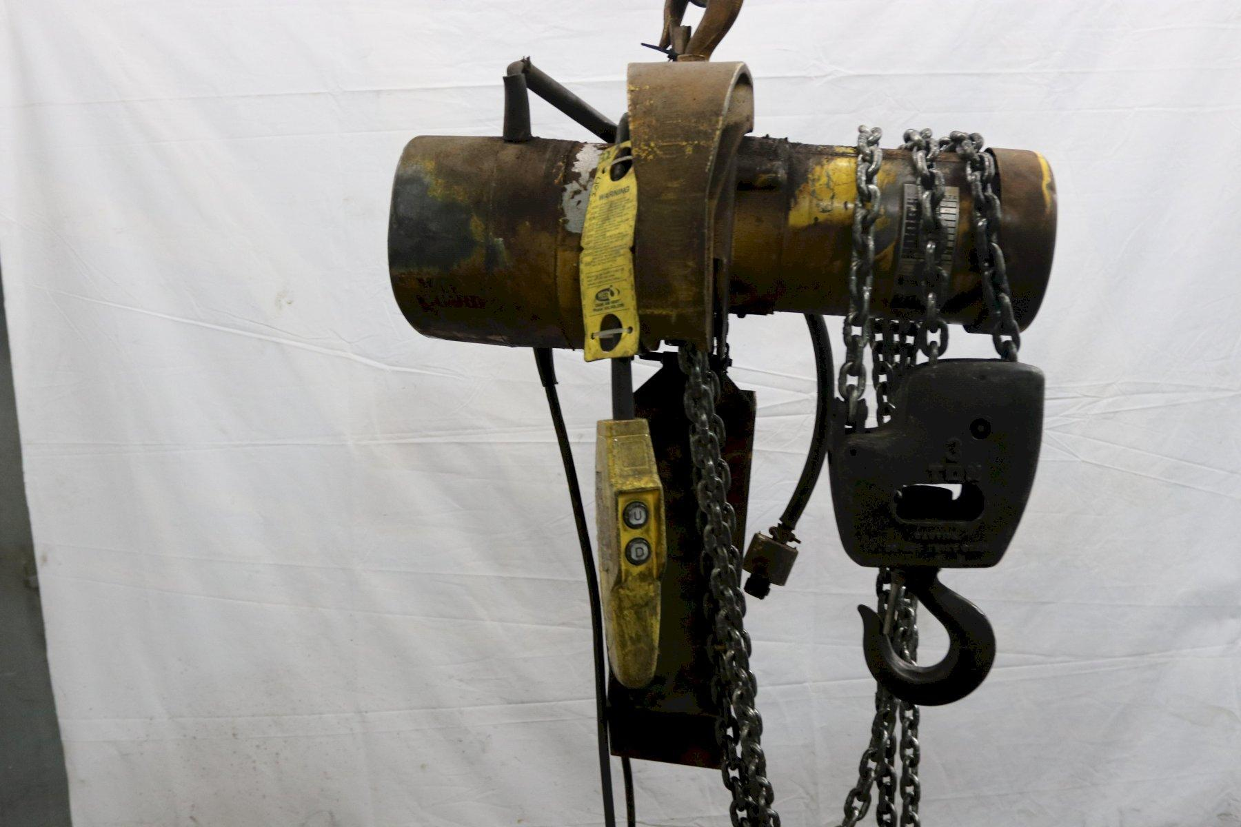 3 TON BUDGIT CHAIN HOIST: STOCK #11962