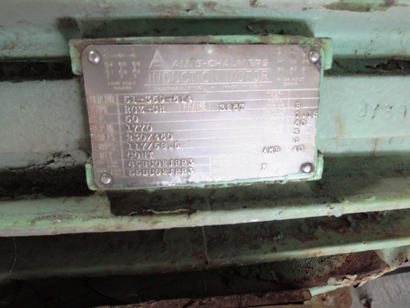 ALLIS CHALMERS 50 HP MOTOR, 1770 RPM, 230/460 VOLTS