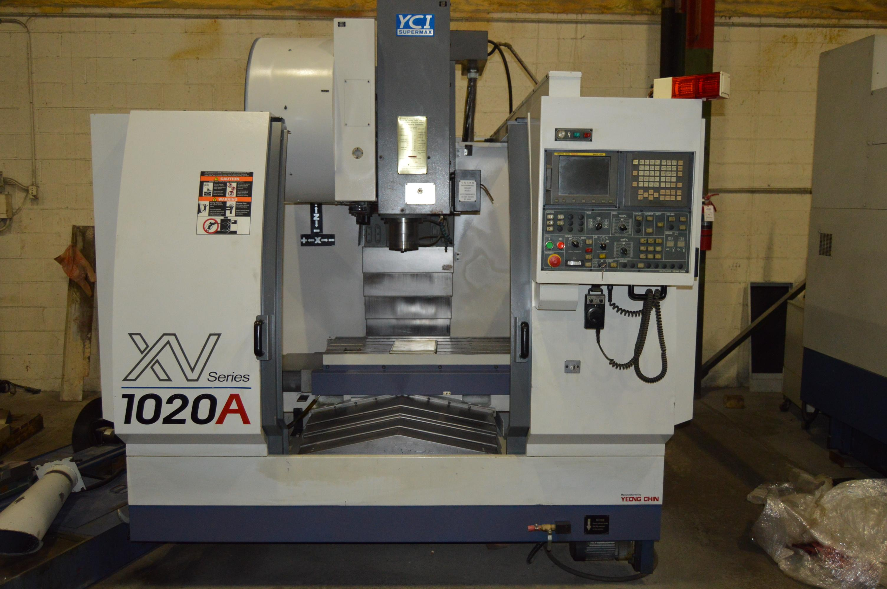 YCI SUPERMAX XV 1020A CNC VERTICAL MACHINING CENTER w/Fanuc MXP100i, 8K Spindle, 24 ATC, Rigid Tap, Auger, 2002
