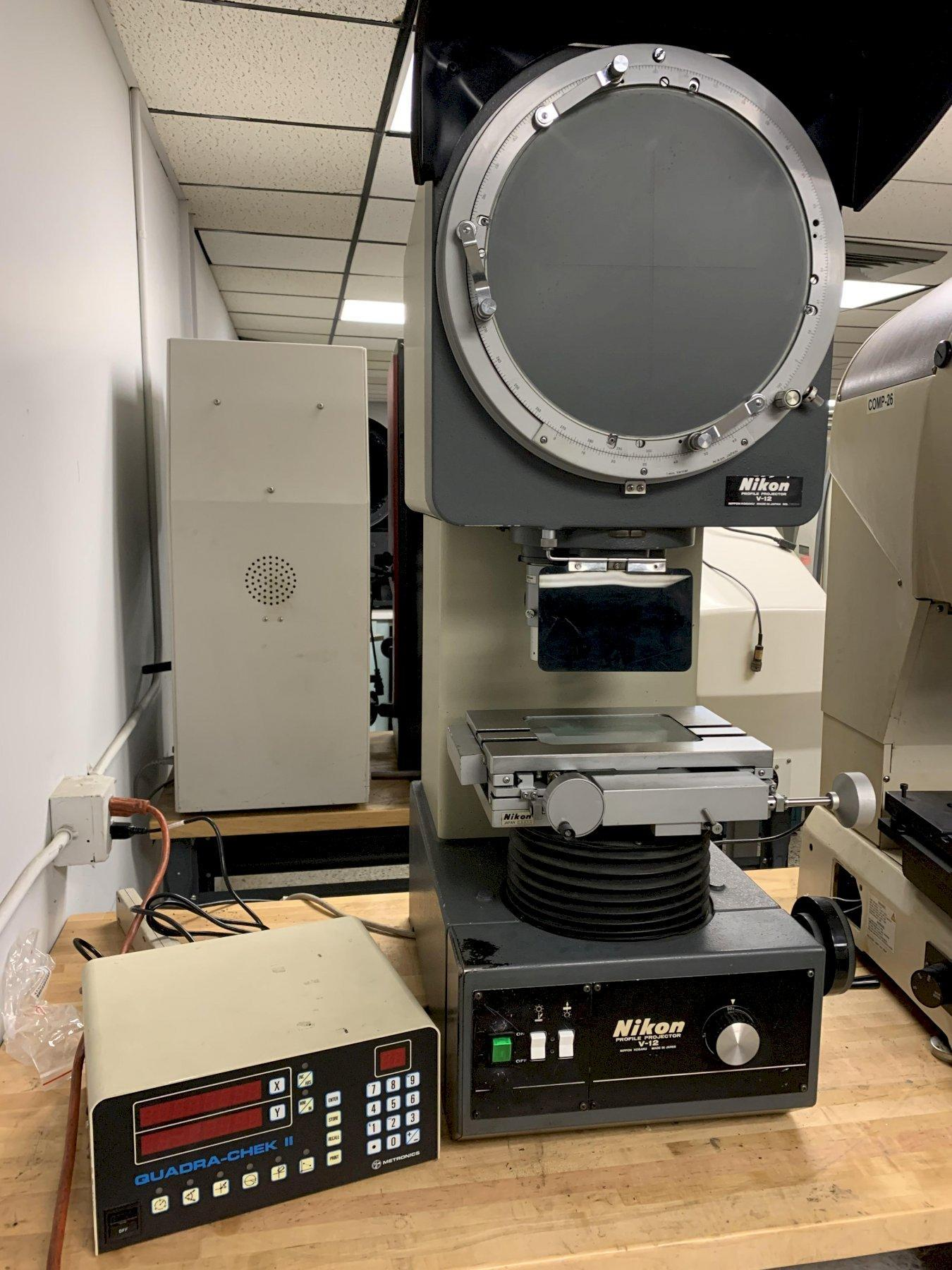 "12"" NIKON Model V12 Bench Top Vertical Beam Optical Comparator / Profile Projector, S/N Pending."