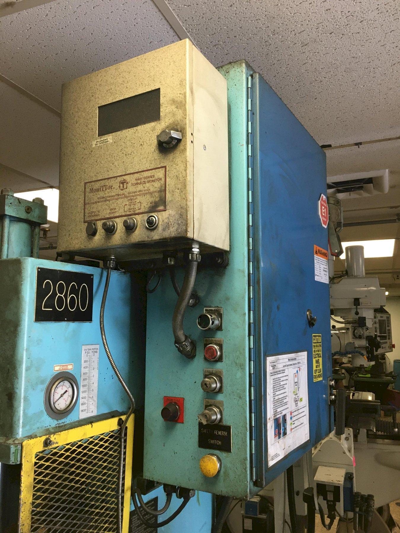 Dennison Multipress W4R87M 8 Ton Hydraulic C-Frame Press