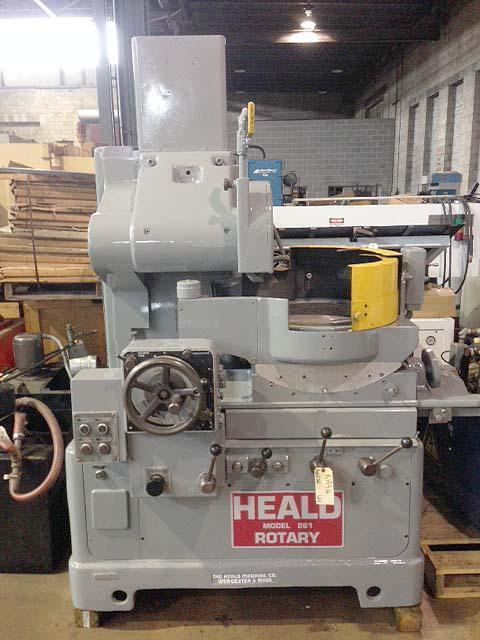 """16"""" HEALD MODEL 261 HORIZONTAL SPINDLE ROTARY SURFACE GRINDER, 16"""" Magnetic Chuck, 10-1/2"""" Vertical Cap, Table Tilt, Coolant"""