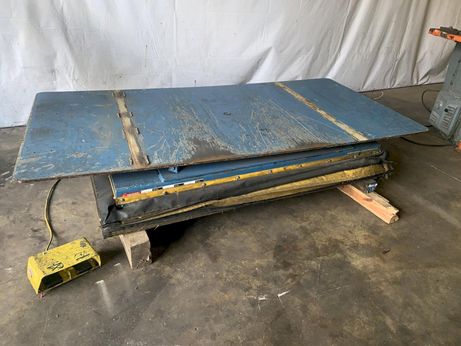 "2000 LB  X  48"" X 96"" SOUTHWORTH ELECTRIC HYDRAULIC SCISSOR LIFT TABLE: STOCK #11539"
