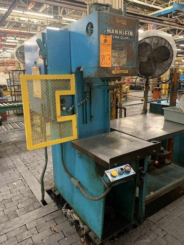 12 TON HANNIFIN MODEL #OGF-12D HYDRAULIC PRESS