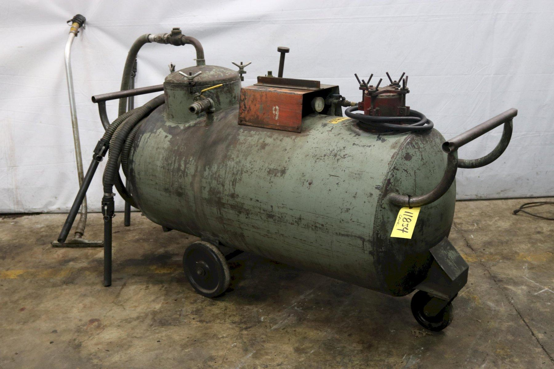200 GALLON CECOR PORTABLE SUMP CLEANER WITH PNEUMATIC ARO CENTRIFUGAL PUMP: STOCK 11854