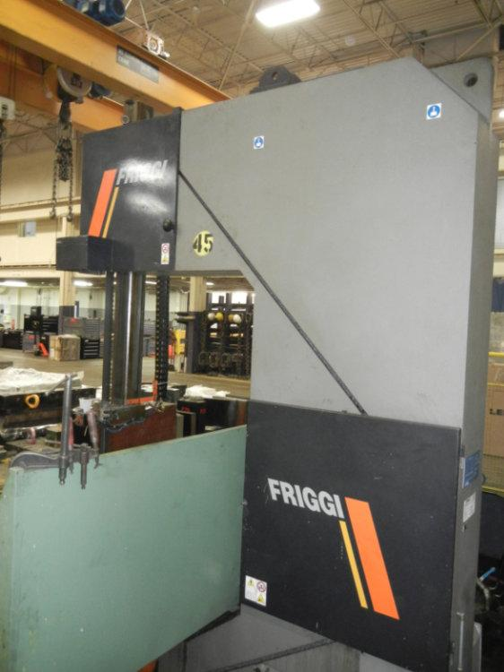 "Used FRIGGI LONGITUDINAL CUTTING BLOCK AND PLATE SAW, Model VAS H, 118"" x 59"" x 47"", Stock No. 10409"