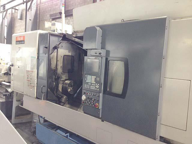 "Mazak Integrex 300iiSY, Mazak Mazatrol Fusion 640 CNC, 12"" Chucks Main and Sub-Spindle, B axis, Y axis, Live Tooling, 120 Station Tool Changer, New 2003."