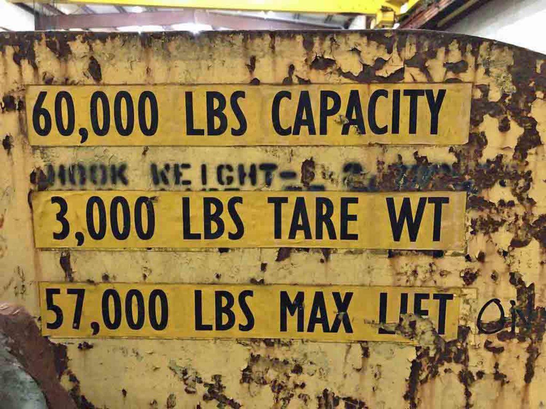 """60"""" X 60,000 LB C-HOOK"""
