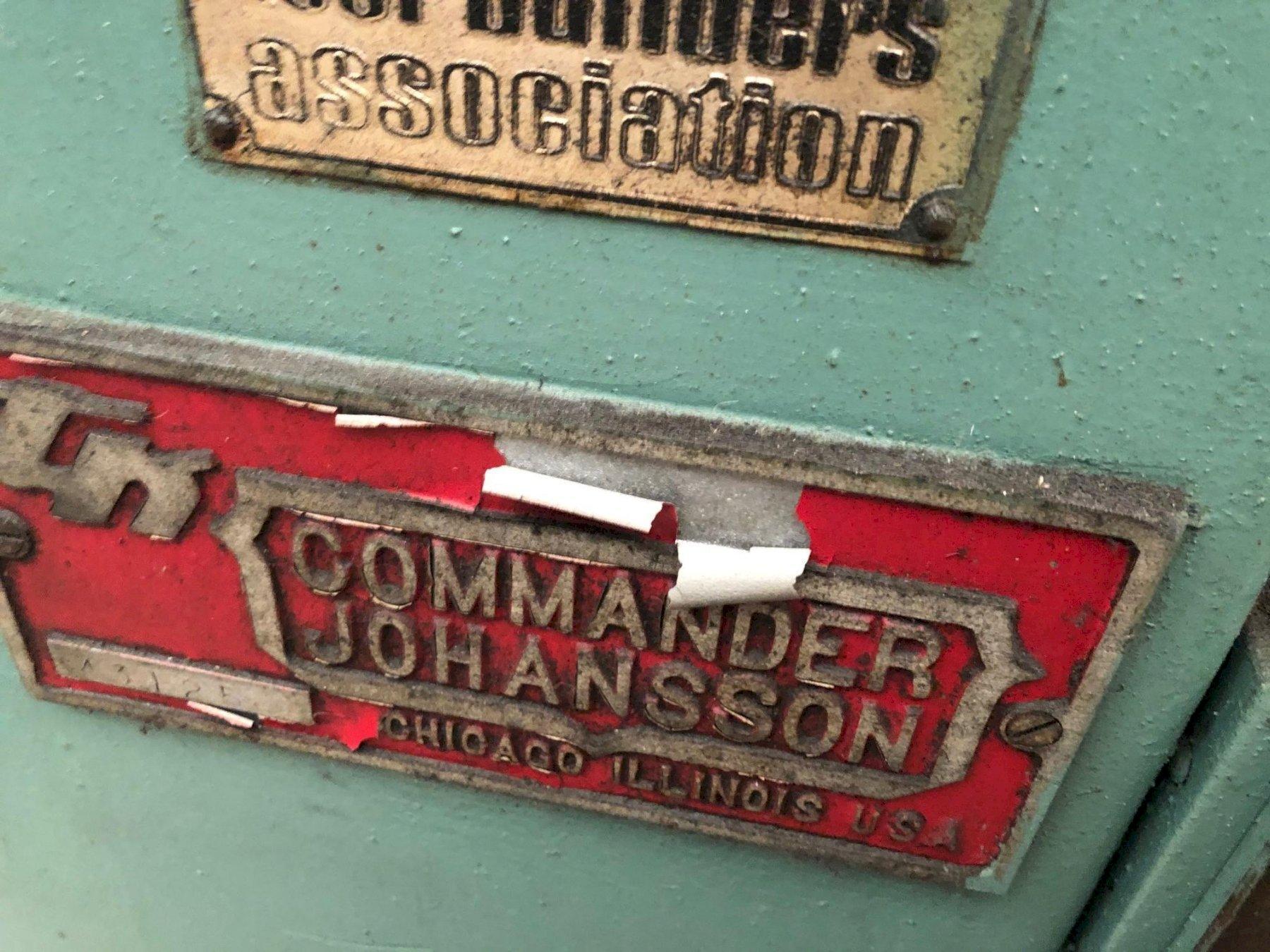 COMMANDER JOHANSSON DRILL PRESS