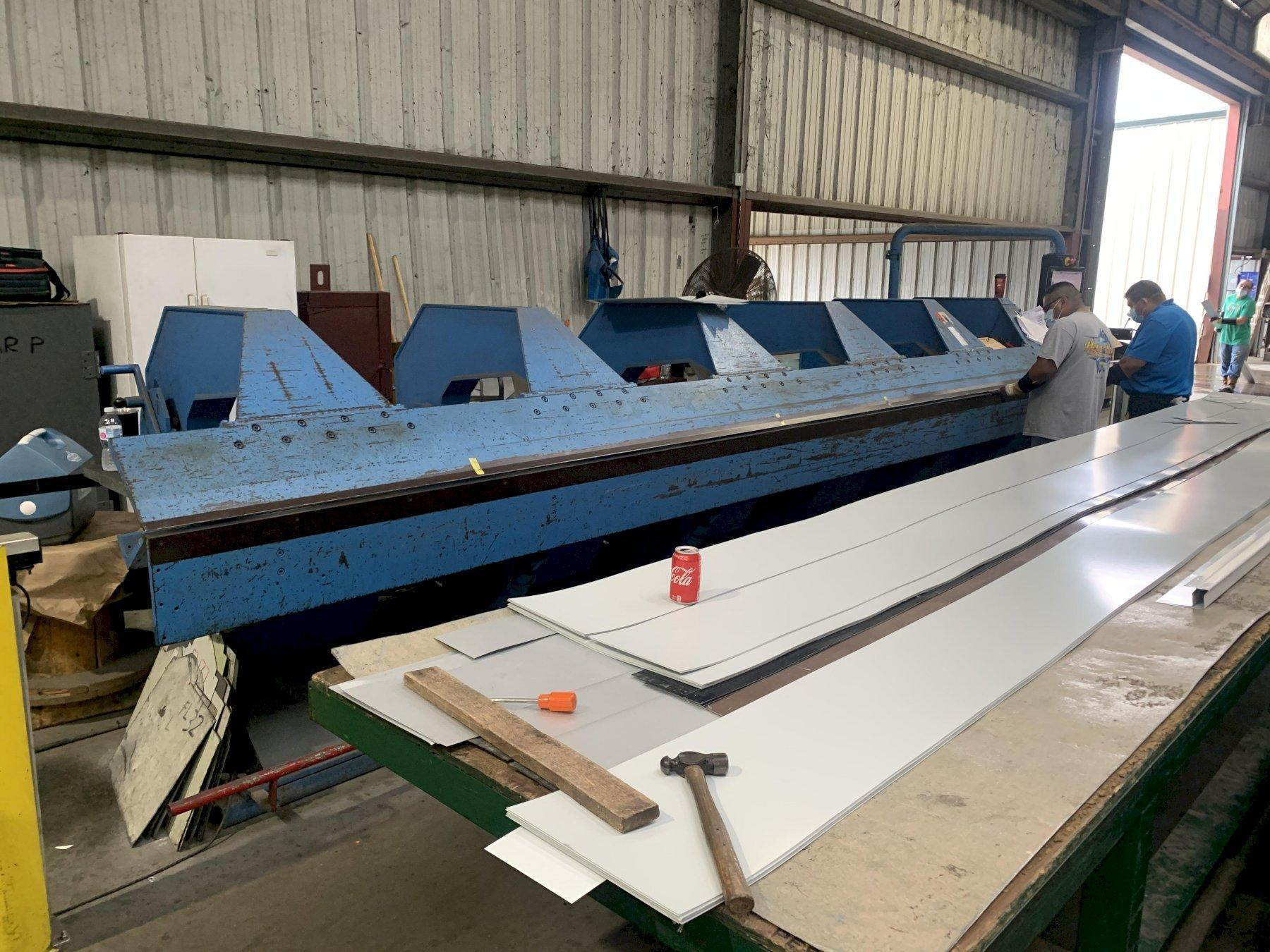 21' X 16 GAUGE JORNS AF CNC SHEET METAL FOLDER: STOCK 2341
