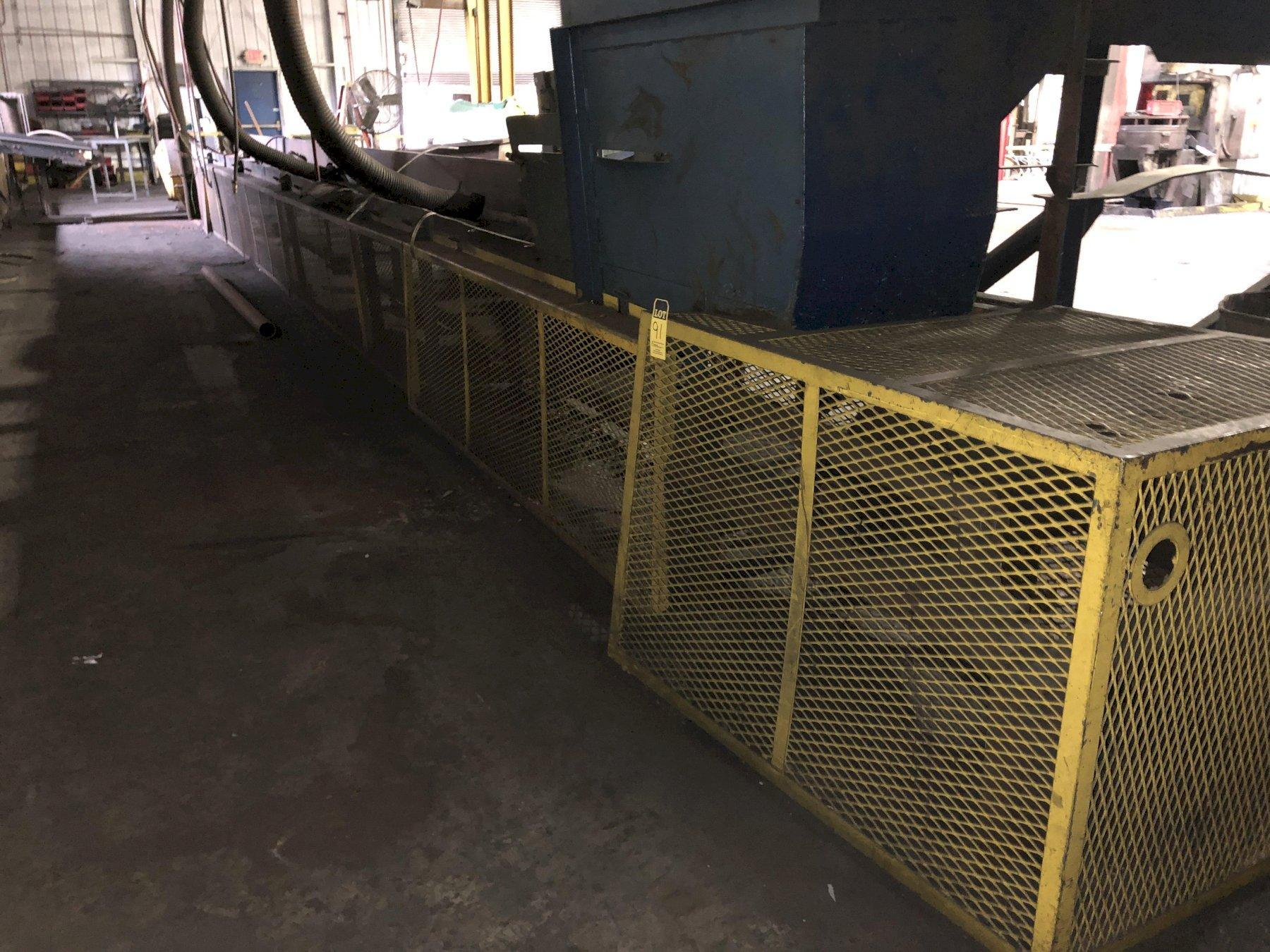 "24"" X APPROX. 80 FLAT CASTING BELT CONVEYOR WITH DRIVE"