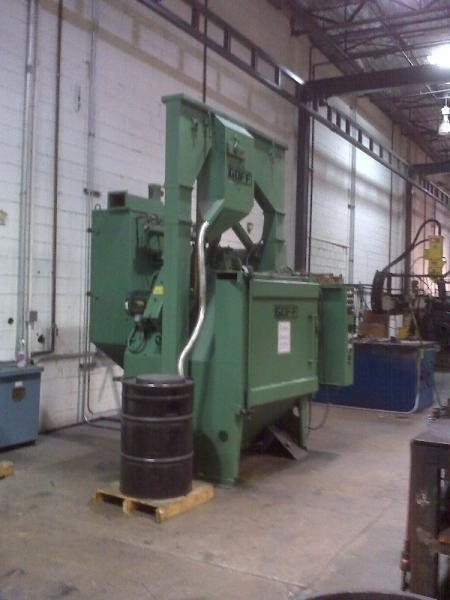 GOFF 48TB TABLE SHOT BLAST MACHINE. STOCK # 2000920