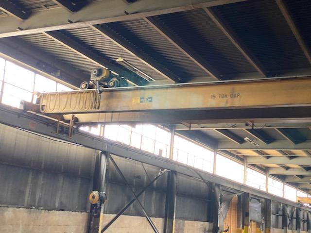 15 Ton MPH Top Running Double Girder Overhead Bridge Crane