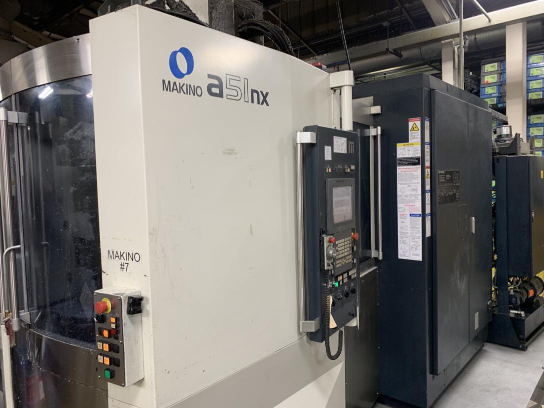 Makino A51NX CNC Horizontal Machining Center, Fanuc Pro 5 Control, 15.7