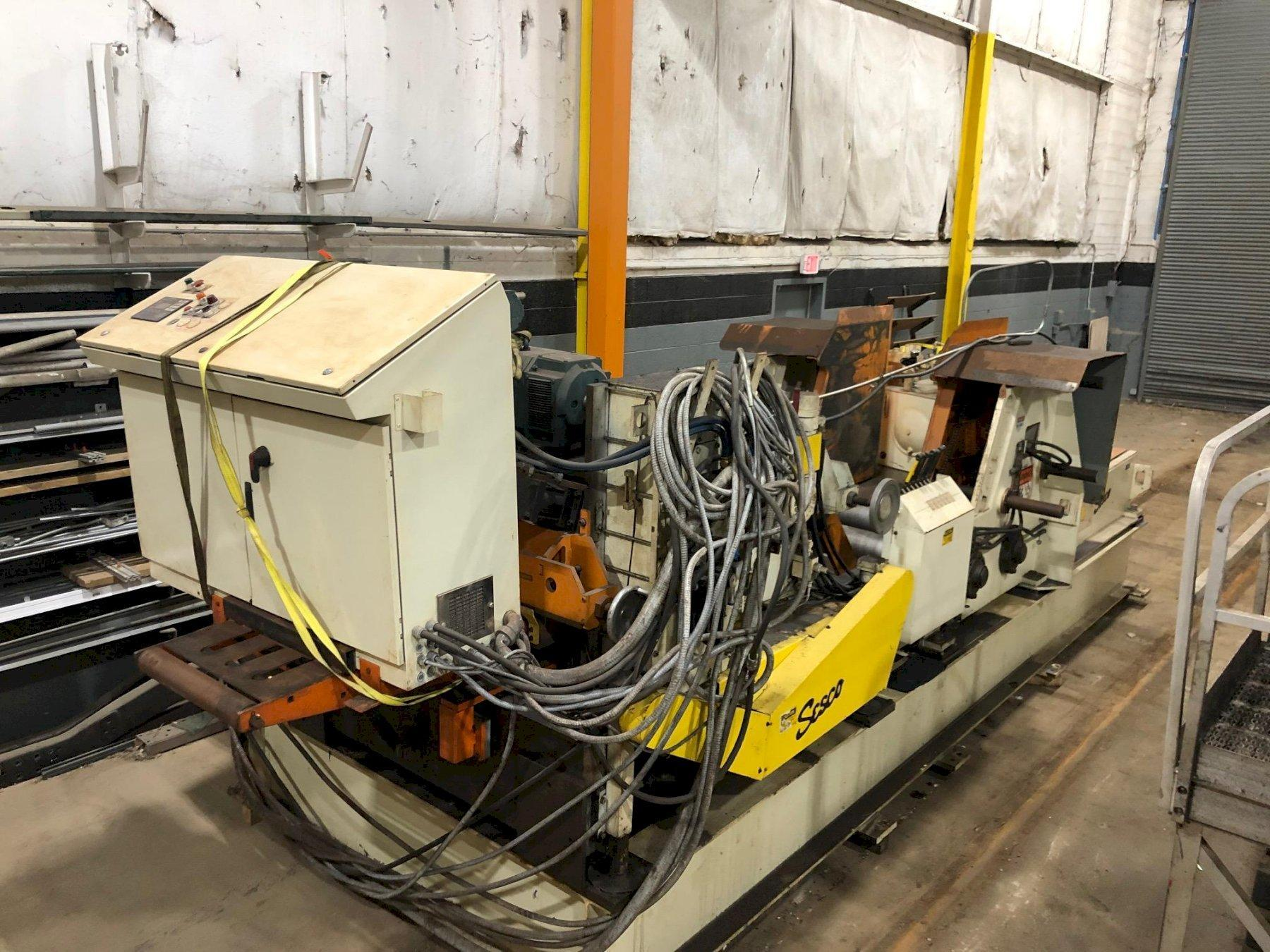 Sesco Coil Cradle Straightener Feeder Coil Feed Line 20,000 Lbs.