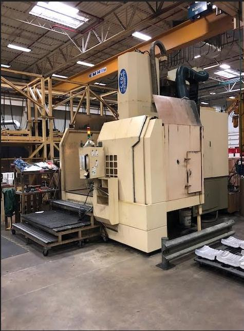 "You Ji 1200ATC+C CNC Vertical Lathe, Fanuc 18iTB Control, 49.21"" Table Dia, 63"" Swing, Live Milling/C-Axis, 16 ATC, 50 Taper, 60 Horsepower, Geared, 0.001° C-Axis Contouring, 11,000 Lb Capacity, 2005"
