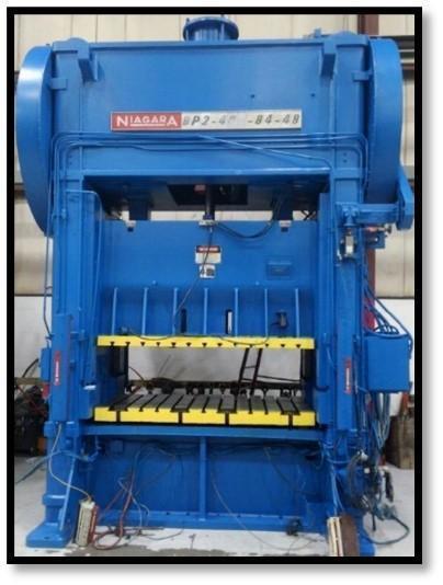 Niagara BP2-400-84 Straight Side Press, Used