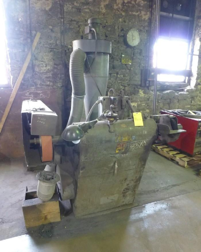 STANDARD ELECTRICAL MODEL 100 DOUBLE END PEDESTAL GRINDER WITH DUST COLLECTOR: STOCK #13358