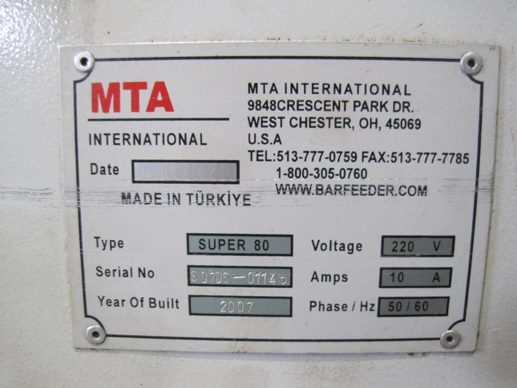 MTA Super 80 Barfeed
