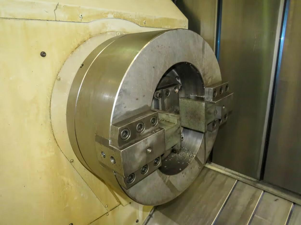 """OKUMA MULTUS B750 W 3000 9-AXIS CNC TURNING CENTER, Okuma OSP-P300S-H CNC Controls, 41"""" Max Swing, 131"""" Between Centers, 24"""" 2-Jaw Chuck Main Spindle, 18""""  3-Jaw Chuck Sub Spindle, 2000 Max RPM Main & Sub-Spindle, 10,000 RPM Milling Spindle, B-Axis, C-Axis, Y-Axis, 160 ATC, (2) Prog Steady Rest, New 2015."""