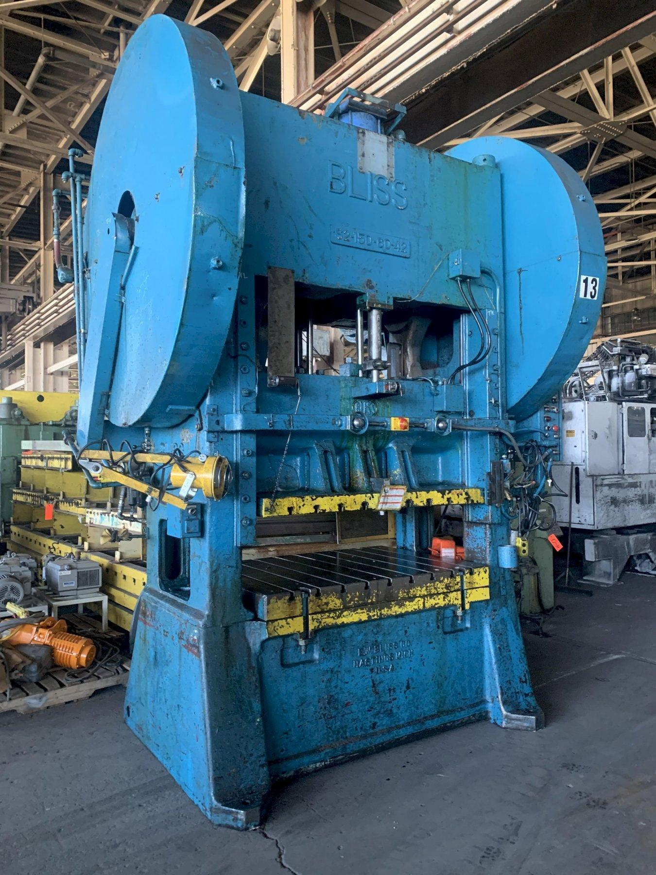 150 TON BLISS #S2-150-60-42 SSDC PRESS. STOCK # 1601020