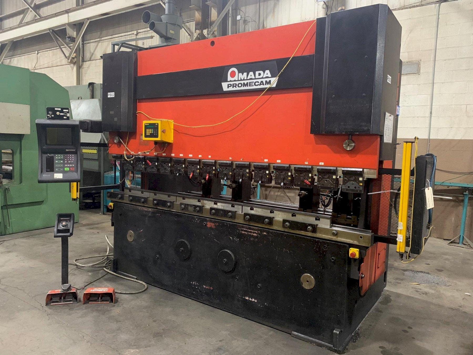 USED AMADA MODEL HFB 1253 HYDRAULIC DOWN-ACTING CNC PRESS BRAKE, Year 1994, Stock #10711