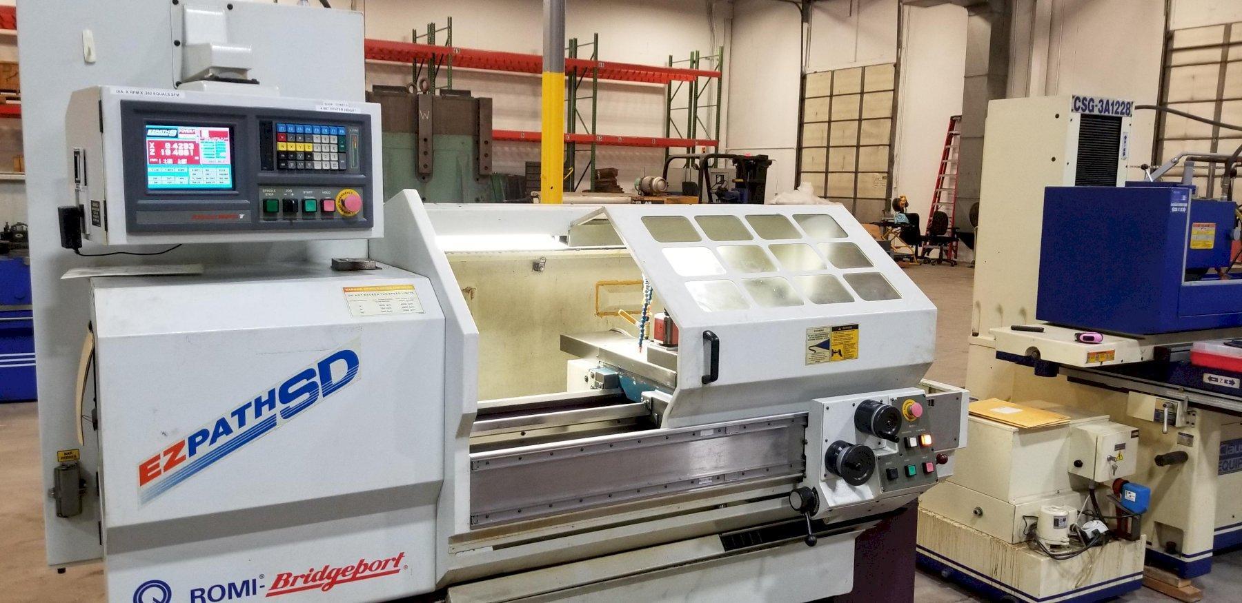 """17"""" x 40"""" Bridgeport Romi EZ PATH SD CNC Toolroom Lathe, New 1999 (Delivered 2000)"""
