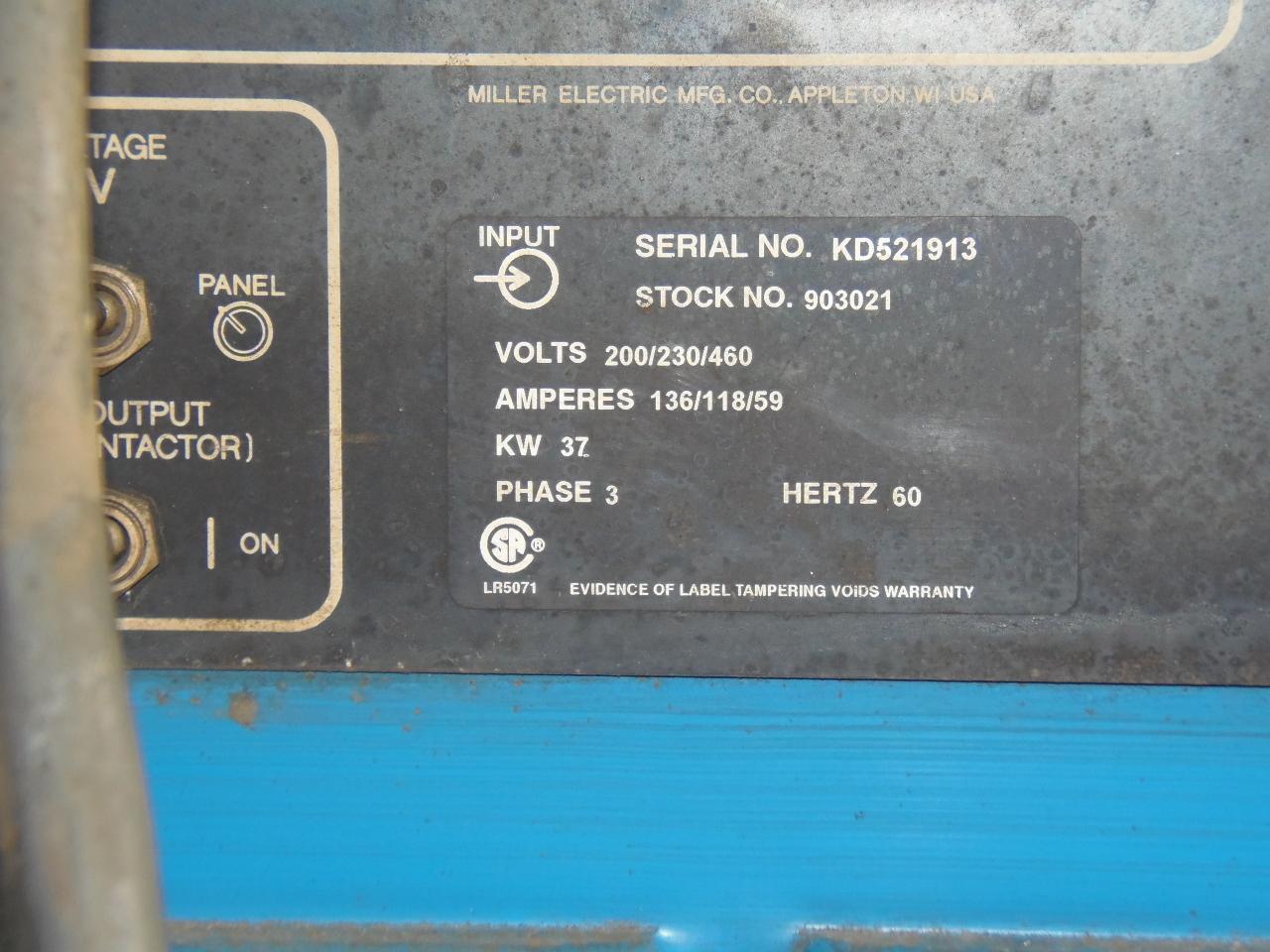 Miller 650 Amp Wire Feed Welder, model Deltaweld 651 with D64 feeder