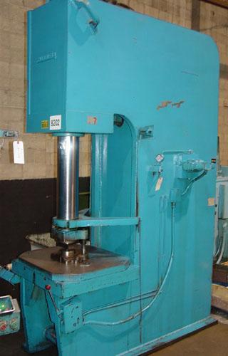 "100 Ton Hannifin Hydraulic Press, C-Frame, Model 100w/28-101, 24"" Stroke, 16"" Throat, 40"" Daylight, 15 HP, 1974."