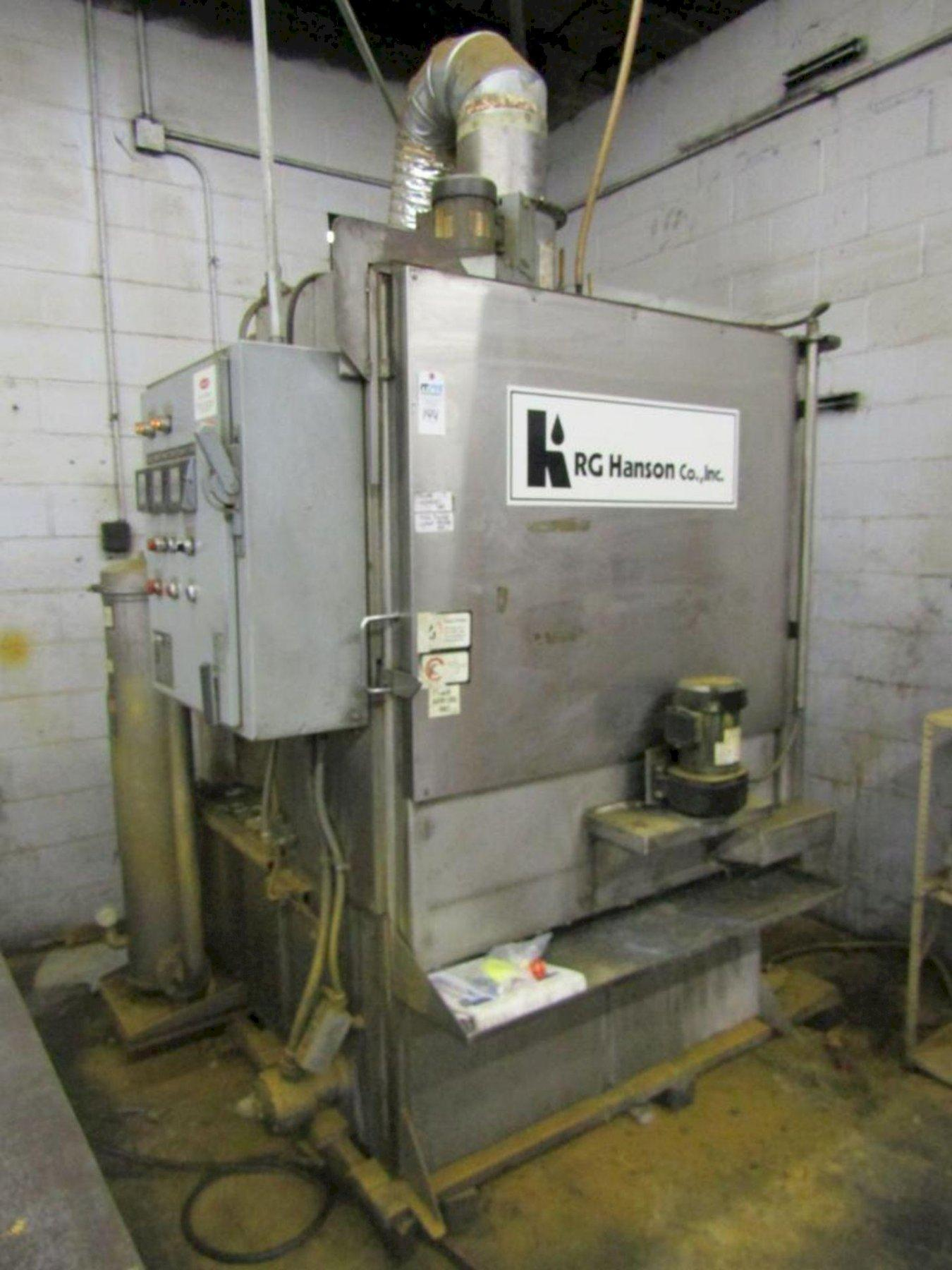 """36"""" x 42"""" HANSON MODEL #DT 36X42-E-1000-BE-RD-SS STAINLESS STEEL ROTARY TABLE PARTS WASHER: STOCK 14635"""